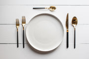 Black & Gold 20 Piece Flatware Set