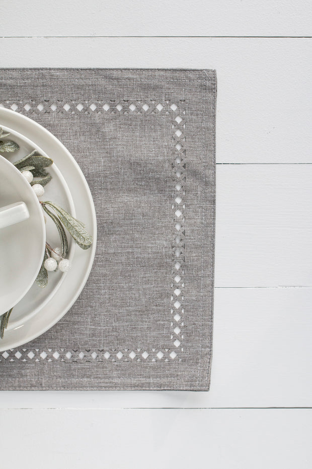 Cut-Out Light Grey Placemat
