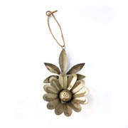 Antique Brass Metal Flower Ornament