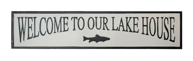 Lakehouse Metal Sign