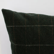 Hunter Green Wool Cushion