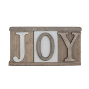Joy Letter Block Sign