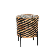 Woven Basket Planter on Stand