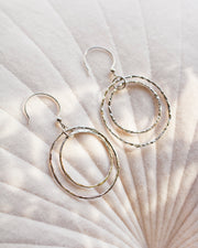Dia Double Hoop Earrings
