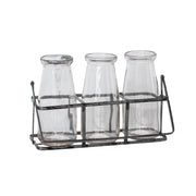 Clear Milk Jar Set