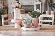 Decorative Metal Pedestal Pink