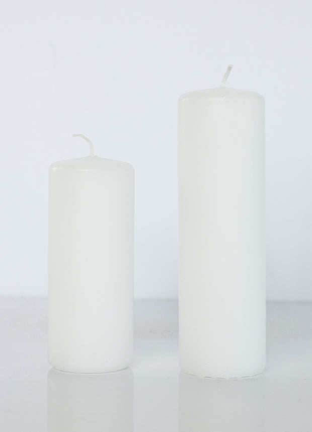 White Danish Pillar Candle