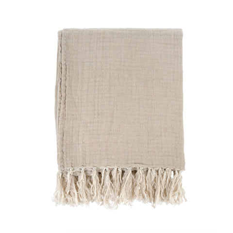 Linen Tassel Throw