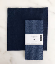 Navy Solid Sponge Cloth - 2 Pack