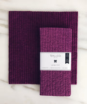 Plum Solid Sponge Cloth - 2 Pack