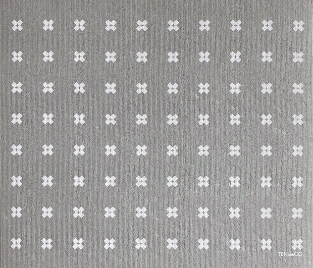 LARGE Tiny X+ Grey Sponge Cloth Mat