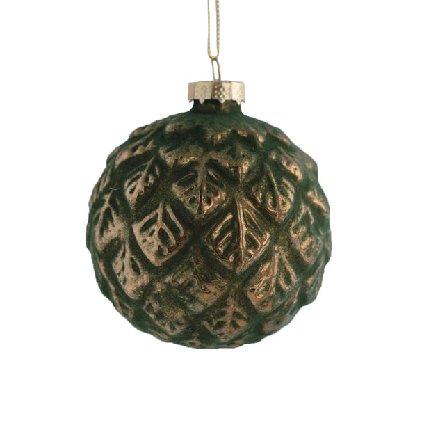 Green Glass Ornament