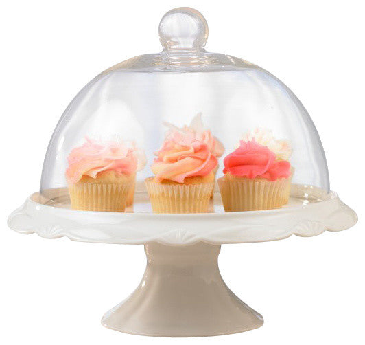 Porcelain Cake Plate + Dome