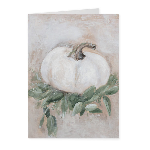 Short Pumpkin Greeting Card