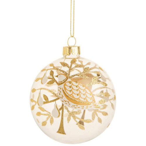 Partridge in a Glittered Pear Tree Ornament
