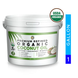 Coconut Oil | Organic | Kosher | Refined - 1 Gallon