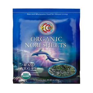 "Nori Seaweed Sheets | Organic | Kosher | Grade ""A"" Rating - 10 Sheets"