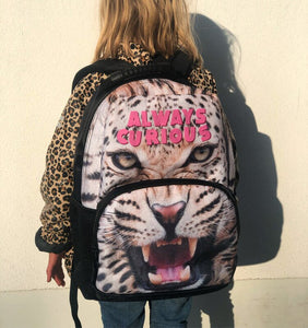 KIDS CUSTOM BACK PACK- LEOPARD PRINT