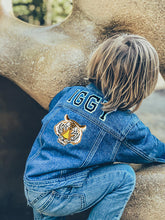 Load image into Gallery viewer, KIDS CUSTOM DENIM JACKET- Classic Tiger