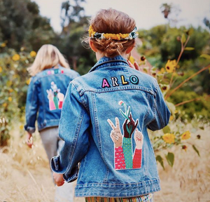 KIDS CUSTOM DENIM JACKET - X Bodil Jane Collab