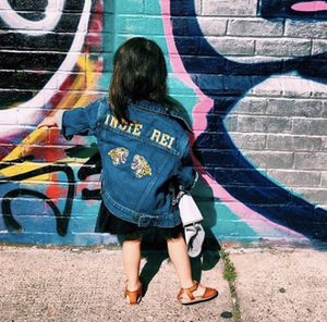 KIDS CUSTOM DENIM JACKET- Special Edition Wild and Free