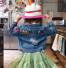 Load image into Gallery viewer, KIDS CUSTOM DENIM JACKET- Special Edition Sparkle Unicorn