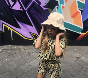 KIDS CUSTOM SUN HAT- BEIGE CANVAS