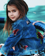 Load image into Gallery viewer, KIDS CUSTOM DENIM JACKET- Special Edition Flower Power