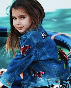 KIDS CUSTOM DENIM JACKET- Special Edition Flower Power