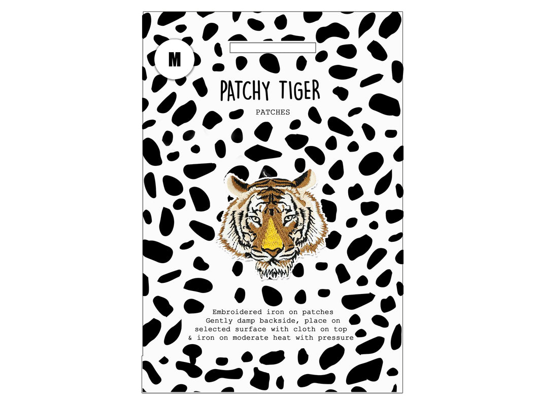 PATCH MASCOT ADD ONS- Brown Tiger head (M)