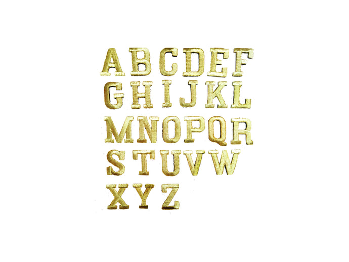 PATCH LETTERS DIY- Gold alphabet bundle