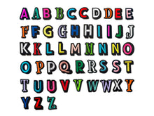 Load image into Gallery viewer, PATCH LETTERS DIY- Rainbow alphabet bundle