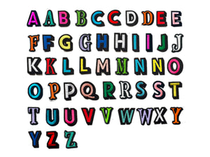 PATCH LETTERS DIY- Rainbow alphabet bundle
