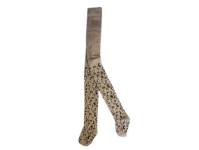 KIDS LEOPARD TIGHTS - Beige
