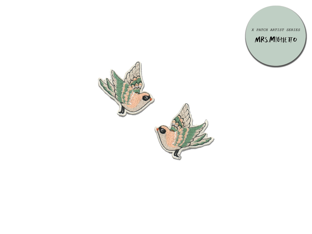 PATCH DIY ARTIST SERIES - X Mrs Mighetto Flying sparrows
