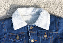 Load image into Gallery viewer, KIDS CUSTOM SHEARLING DENIM JACKET- Classic Tiger