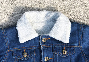 KIDS CUSTOM PROTO SHEARLING DENIM JACKET- Classic
