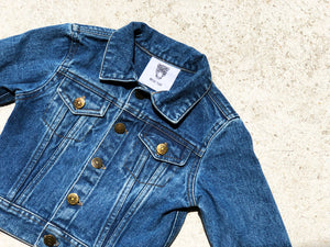 KIDS CUSTOM DENIM JACKET- Basic Gold Alphabet