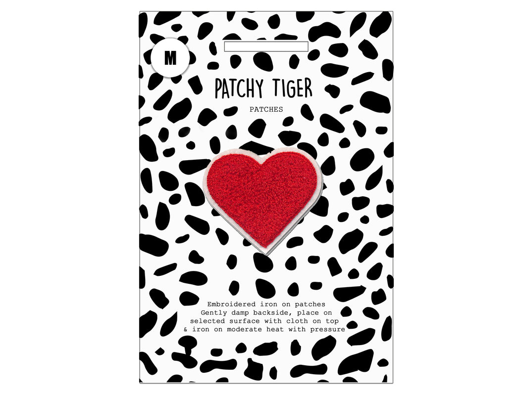 PATCH MASCOT ADD ONS- Fluffy red heart (M)
