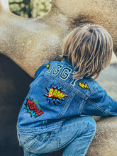 Load image into Gallery viewer, KIDS CUSTOM DENIM JACKET - Special Edition Superhero