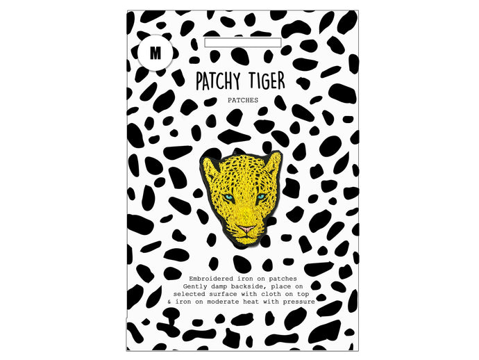 PATCH MASCOT ADD ONS- Yellow Leopard Head (M)