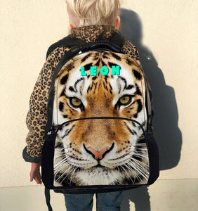 KIDS CUSTOM BACK PACK- TIGER PRINT