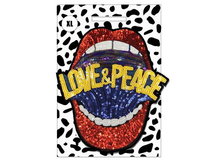 PATCH MASCOT ADD ONS- Mega Sequin Love & Peace (XL)