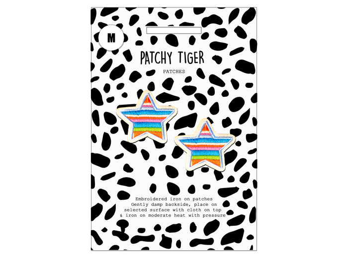 PATCH MASCOT ADD ONS- 2 x Multi colour stars (M)