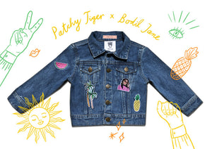 ADULT CUSTOM DENIM JACKET - Limited Collab X Bodil Jane