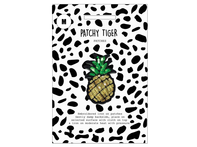 PATCH MASCOT ADD ONS- Sequin pineapple (M)