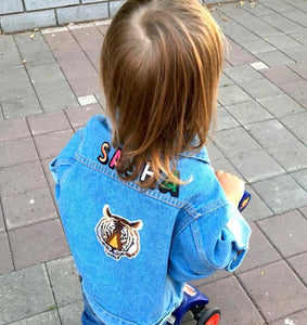 KIDS CUSTOM DENIM JACKET- Classic Tiger