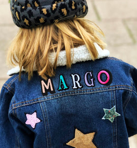 KIDS CUSTOM SHEARLING DENIM JACKET- Mega Edition Star Struck