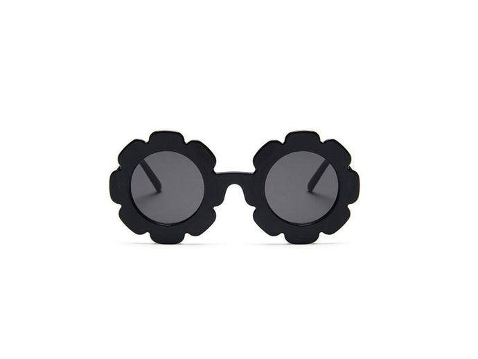 Kids flower sunglasses- Black