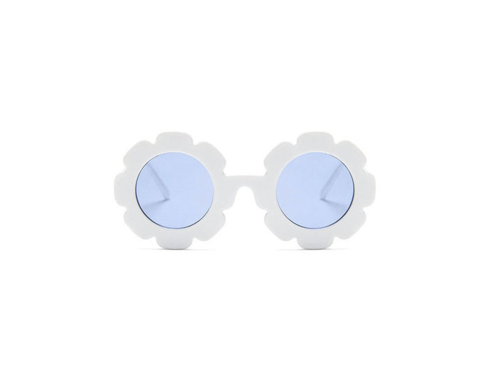 Kids flower sunglasses- white